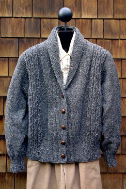 d61e02fc0a2c6c MS 126 Worsted Weight Shawl Collar Sweater Knitting pattern by Mari ...