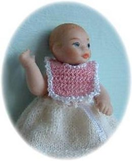 1:12th scale baby bibs