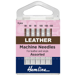 Hemline Sewing Machine Needles - Leather - Mixed - 6 Pieces