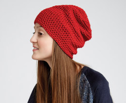 Slouchy Beanie in Caron Simply Soft - Downloadable PDF