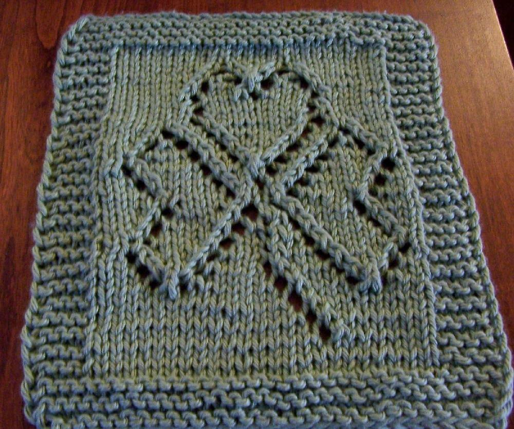 St Patrick S Day Washcloth Knitting Pattern By Mary
