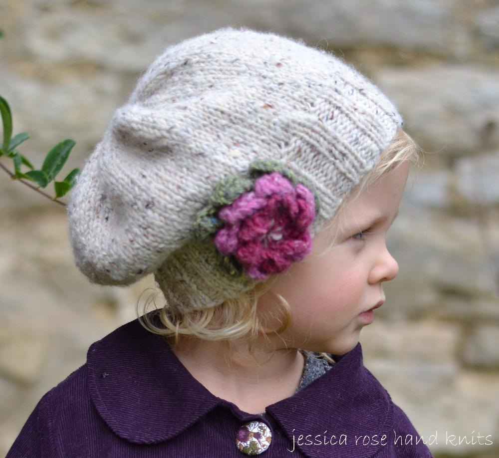 Free Knitting Pattern For Baby Slouch Hat : Baby, Child, Adult Little Petal Slouchy Hat Knitting pattern by Jes...