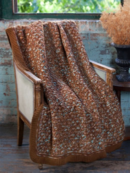 Diamond Lattice Throw in Caron Simply Soft & Simply Soft Paints - Downloadable PDF