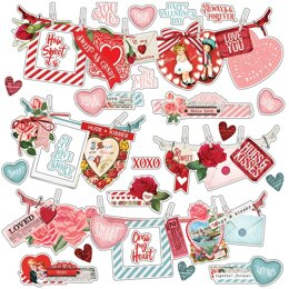 "Simple Stories Simple Vintage My Valentine Cardstock Stickers 12""X12"" - Banners"