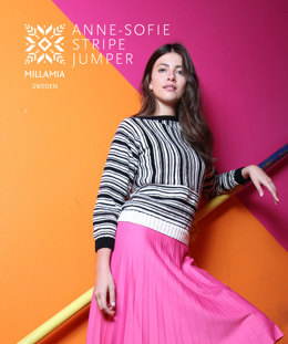 Anne-Sofie Stripe Jumper in MillaMia Naturally Soft Merino - Downloadable PDF