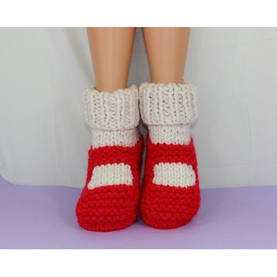 Adult Super Chunky Rib Cuff Sock Slippers