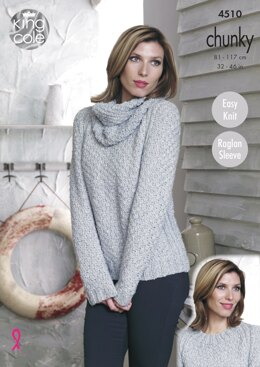 Sweaters & Cowl in King Cole Chunky - 4510 - Downloadable PDF