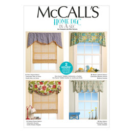 McCall's Window Treatments M7034 - Paper Pattern Size All Sizes In One Envelope
