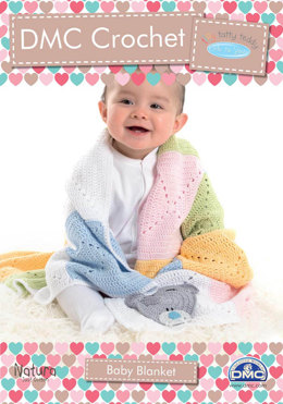 Baby Blanket in DMC Natura Just Cotton and Soft Cotton - 15285L/2 - Leaflet