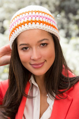 Stripes for Your Beanie in Red Heart Heads Up - LW4386EN