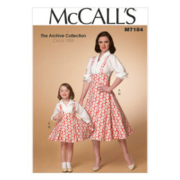 McCall's Misses'/Children's/Girls' Top and Jumper M7184 - Sewing Pattern