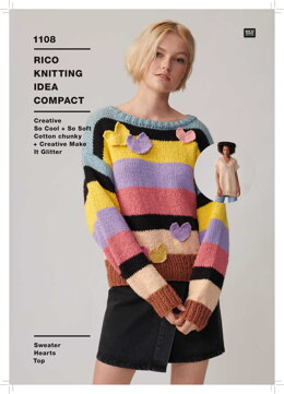 Sweater, Hearts & Top in Rico Creative So Cool & So Soft Cotton Chunky - KIC 1108 - Leaflet