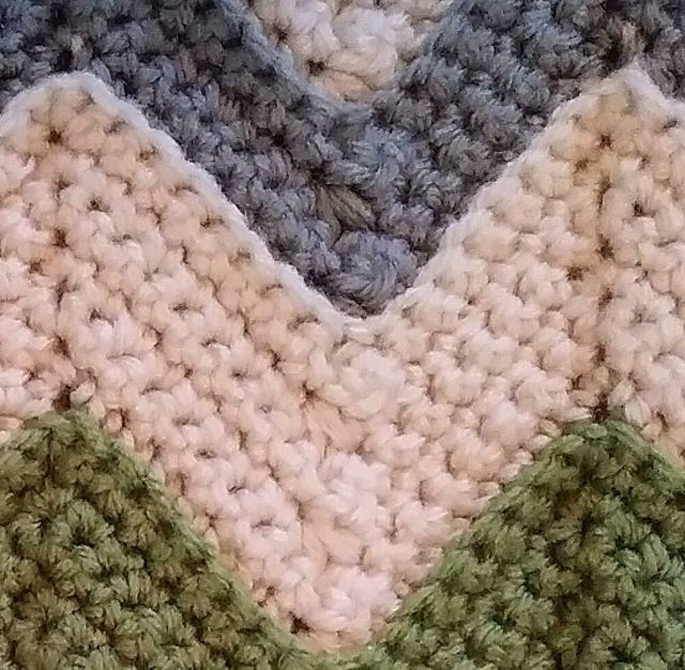 Chevron Baby Blanket Crochet Pattern By Caitlins Contagious Creations