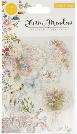 Craft Consortium A5 Clear Stamps - Florals By Clare Therese Gray