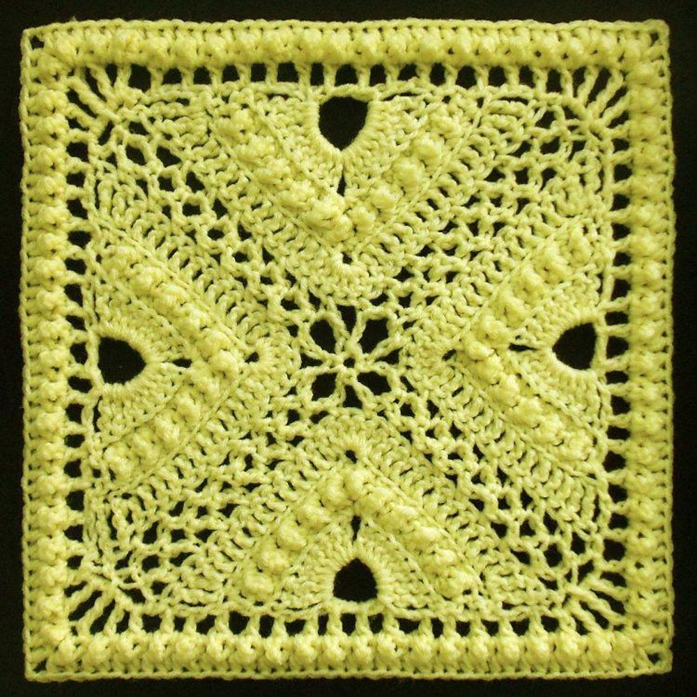 Bee Hives and Clover Afghan Block Crochet pattern by Joyce Lewis ...