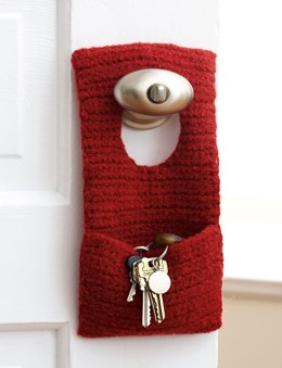 Felted Door Knob Organizer (To Crochet) in Patons Classic Wool Worsted
