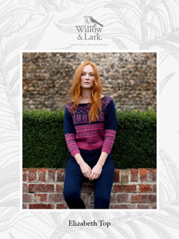 """Elizabeth Top"" - Top Knitting Pattern For Women in Willow & Lark Ramble-4"