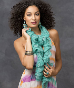 Sparkling Sea Scarf in Red Heart Boutique Rigoletto Sequins - LW3303 - Downloadable PDF