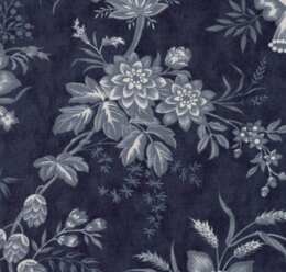 Moda Fabrics 3 Sisters Snowberry Midnight Floral Toile Dark Blue