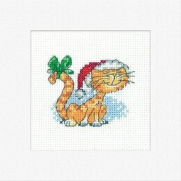 Heritage Christmas Tigger Cross Stitch Card Kit - 7cm x 5.5cm