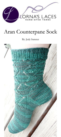 Counterpane Socks in Lorna's Laces Solemate