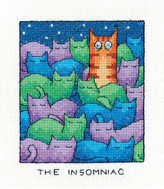Heritage The Insomniac Cross Stitch Kit - 9cm x 11.5cm