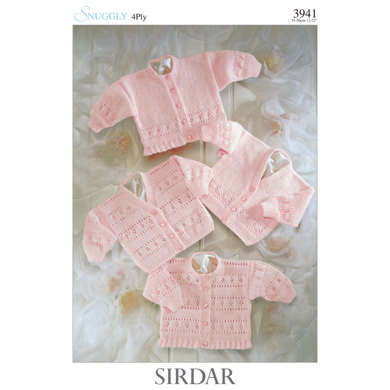 Sirdar Knitting Pattern Abbreviations : Cardigans in Sirdar Snuggly 4 Ply 50g - 3941 - Downloadable PDF