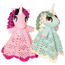 Unicorn / Pony Lovey Security Blanket