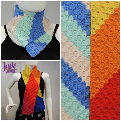 Scarf Squared Double Crochet C2C