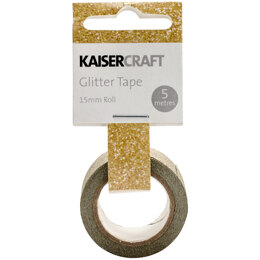 "Kaisercraft Glitter Tape .5""X16.5' - Gold"