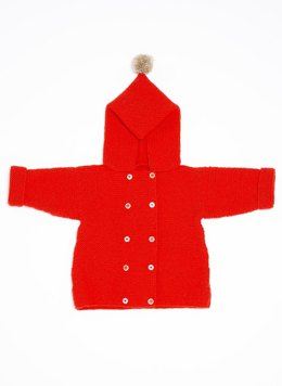 Babies Hooded Coat in Bergere de France Barisienne and Calinou - 60508-483 - Downloadable PDF