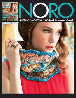 Welted Chevron Cowl in Noro Kibou - 30 - Downloadable PDF