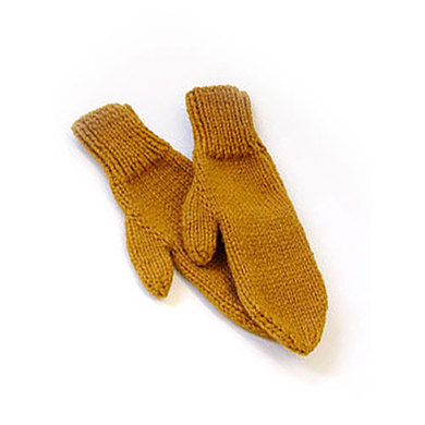 2-needle mittens in Lion Brand Wool-Ease Chunky - 70746AD