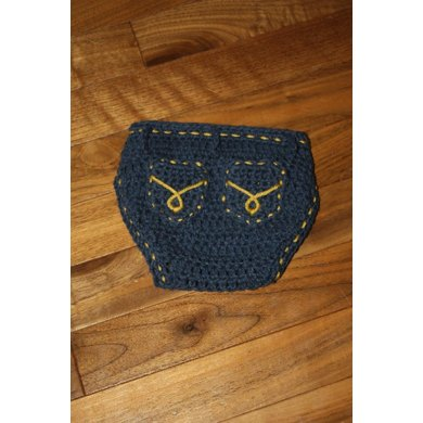 Diaper Cover with Pockets Pattern