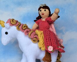 Princess Doll Toy Fairytale Knitting Pattern Snoo's Knits