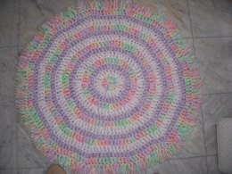 Quick Cotton Candy Swirl Baby Blanket