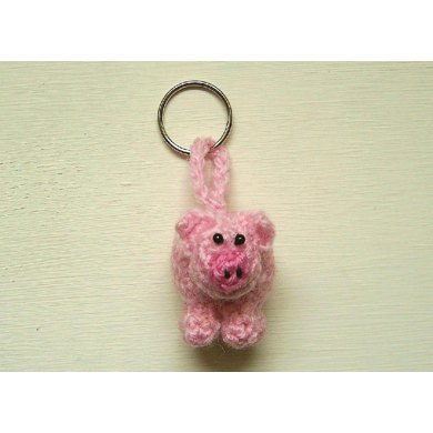 Peter the Pig keychain