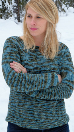 Ilo Pullover in Knit One Crochet Too Kettle Tweed - 2441 - Downloadable PDF