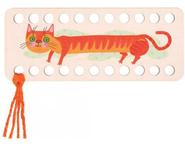 RTO Yarn Holder - Rectangular Printed Cat Orange