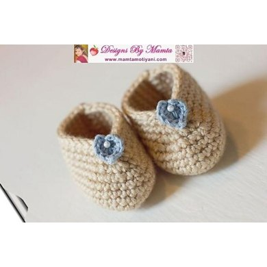 Easy Crochet Baby Booties Pattern Designer Shoes Slippers For Infants