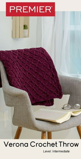 Verona Crochet Throw in Premier Yarns Parfait Big - Downloadable PDF