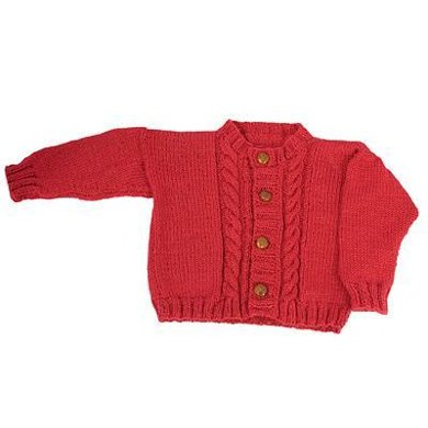 Easy Child's Cable Cardigan