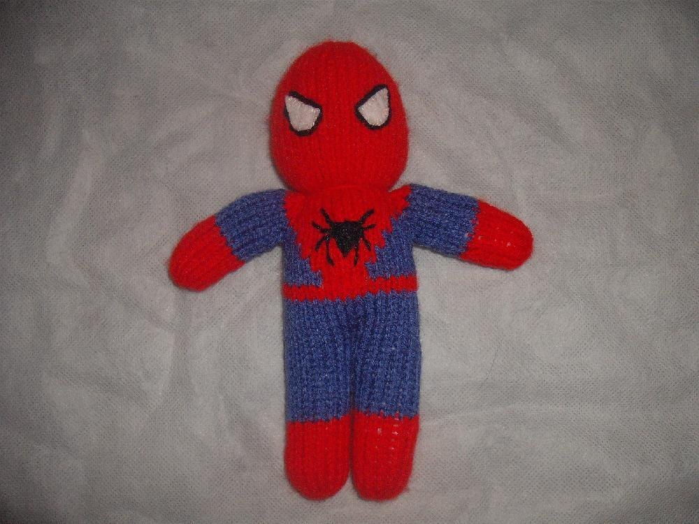 Knitted Spiderman Knitting pattern by Irene McCormick Knitting Patterns L...