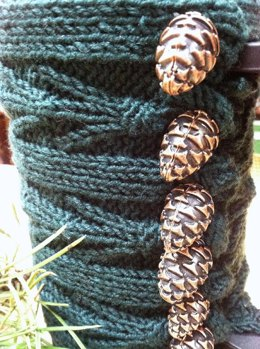 Pine Cone And Tassel Coffee Press and Mug Cozies