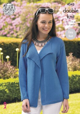 Cardigans in King Cole Bamboo Cotton DK - 4343 - Downloadable PDF
