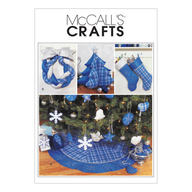 McCall's Christmas Decorating M3777 - Paper Pattern Size One Size Only