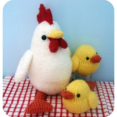 Hen And Chicks Knit Pattern Knitting Pattern By Amy Gaines