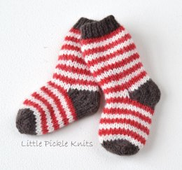 Simple Stripy Baby Socks