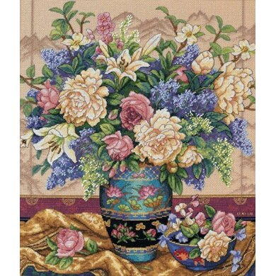 Dimensions Oriental Splendor Cross Stitch Kit - 30cm x 36cm