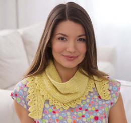Short Row Shawlette in Caron Simply Soft - Downloadable PDF